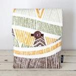 iPad Case - Tiki Tropical Orange Gr..