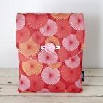 iPad Case - Coral Pink Peach Pinwhe..