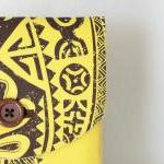 iPad Case - Tiki Fiji Yellow Brown ..