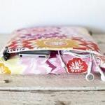 iPad Case - Floral Pink Peach Dahli..