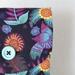 iPad Case - Birds Flowers Black Mex..