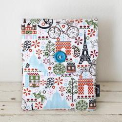 iPad Mini Case - Paris Birds Bicycles Trees - Padded with Pocket