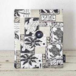 iPad Case - Tiki Tropical Turtle Palm Tree Brown - Padded with Pocket