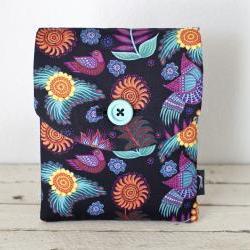 iPad Case - Birds Flowers Black Mexicana